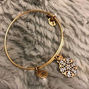 Alex & Ani bracelet with snowflake